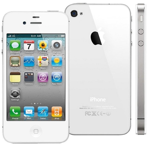 IPHONE 4 BRANCO 8GB APPLE - IOS 6 - 3G - WI-FI, TELA 3.5