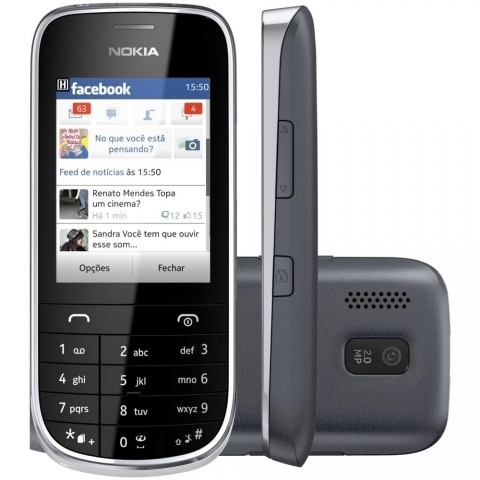 NOKIA ASHA 202 BRANCO DUALCHIP 2MP MP3 PLAYER FM BLUETOOTH
