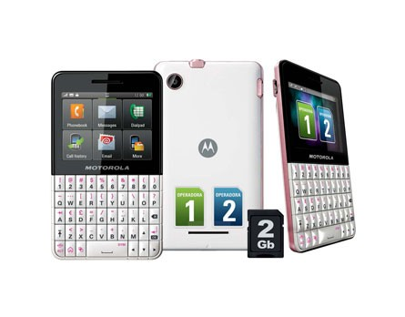 CELULAR MOTOROLA EX119 DUAL CHIP, WI-FI, BLUETOOTH, TOUCH SCREEN, MP3 PLAYER na internet