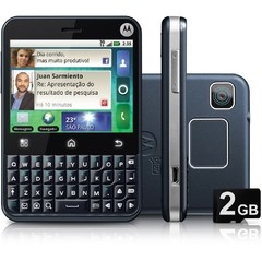 Motorola Mb502 Motoblur C/ Android 2.1, Touchscreen, Wi-fi, Foto 3.15 Mpx, Gps, 1 Core 600 MHZ, Quad Band (850/900/1800/1900)