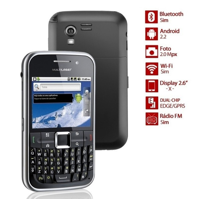 SMARTPHONE MULTILASER MERCURY P3169 ANDROID, DUAL CHIP, WI-FI, QUADRI BAND,TOUCHSCREEN  na internet