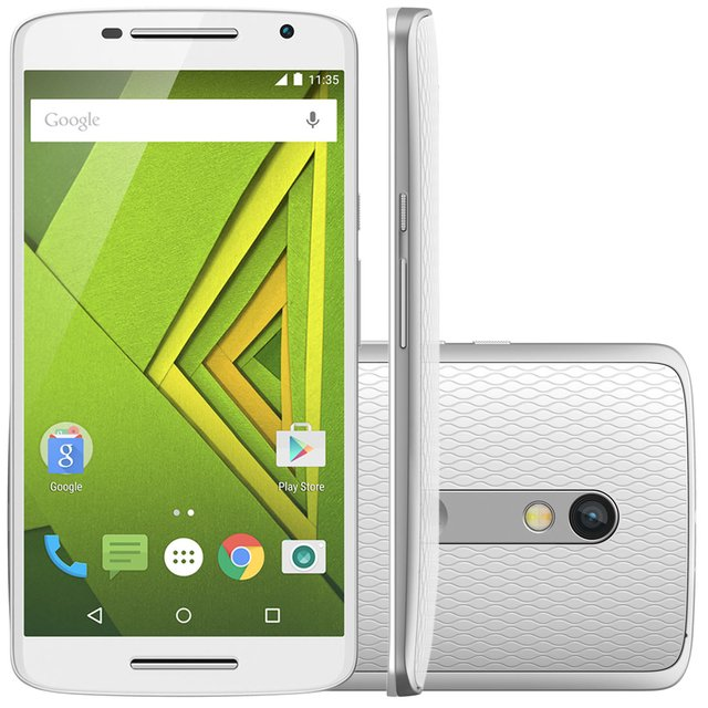 Smartphone Motorola Moto X Play Colors XT-1563 Branco Dual Chip Android Lollipop 4G Wi-Fi 32GB