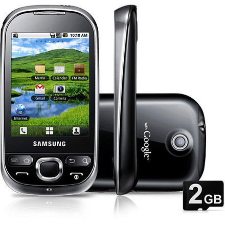 Samsung Galaxy 5 Gt-i5500b CORBY SMART Android 2.3 Câmera 3.2 MP, mp3 player, radio, bluetooth, Touchscreen - comprar online