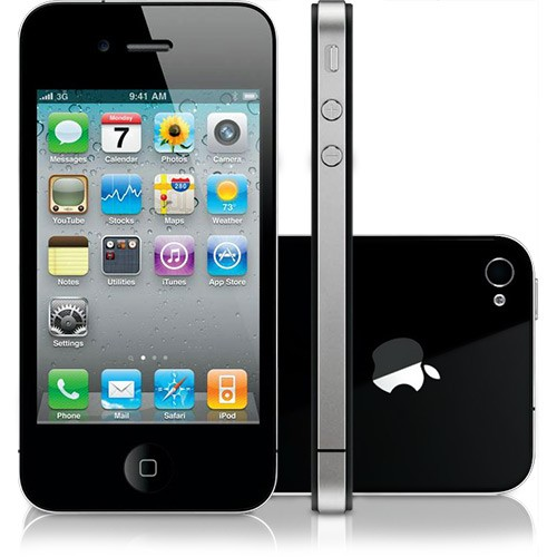 IPHONE 4 PRETO 32GB APPLE - IOS 6 - 3G - WI-FI - TELA 3.5