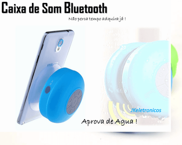 CAIXA DE SOM RESISTENTE A ÁGUA BLUETOOTH WIRELESS IPHONE ANDROID - comprar online