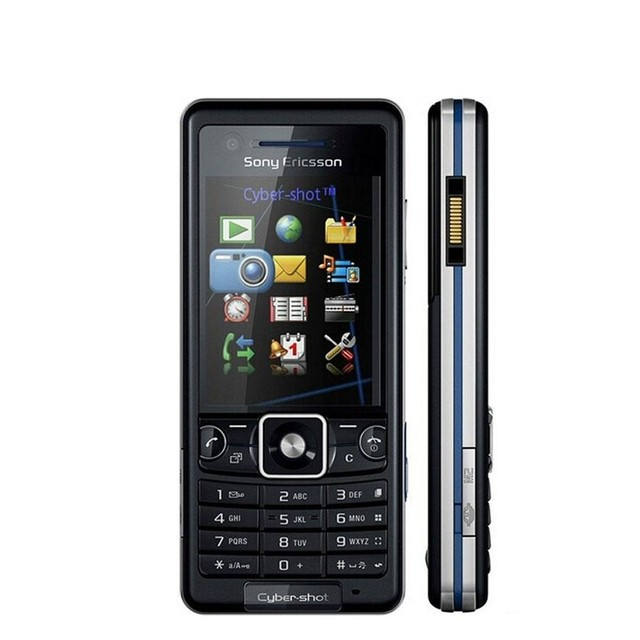 Sony Ericsson C510 3G GSM câmera de 3.1MP, Mp3 Player, Bluetooth, Tri Band (900/1800/1900)