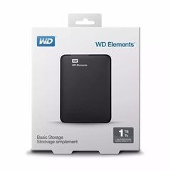 HD Externo Portátil Western Digital Elements 1TB Preto