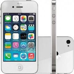 "IPHONE 4 BRANCO 8GB APPLE - IOS 6 - 3G - WI-FI, TELA 3.5"", CÂMERA DE 5MP"