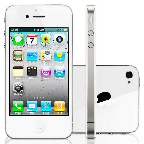 IPHONE 4S APPLE 32GB COM CÂMERA 8MP, TOUCH SCREEN, 3G, GPS, MP3, BLUETOOTH E WI-FI - BRANCO
