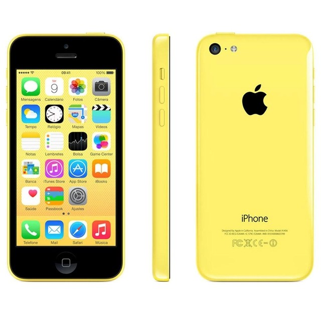 iPhone 5C Amarelo Apple - 8GB - 4G - iOS 8 - Wi-Fi - Tela Multi-Touch 4
