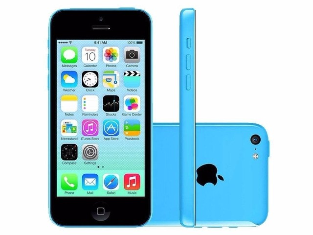 iPhone 5C Azul Apple - 8GB - 4G - iOS 8 - Wi-Fi - Tela Multi-Touch 4