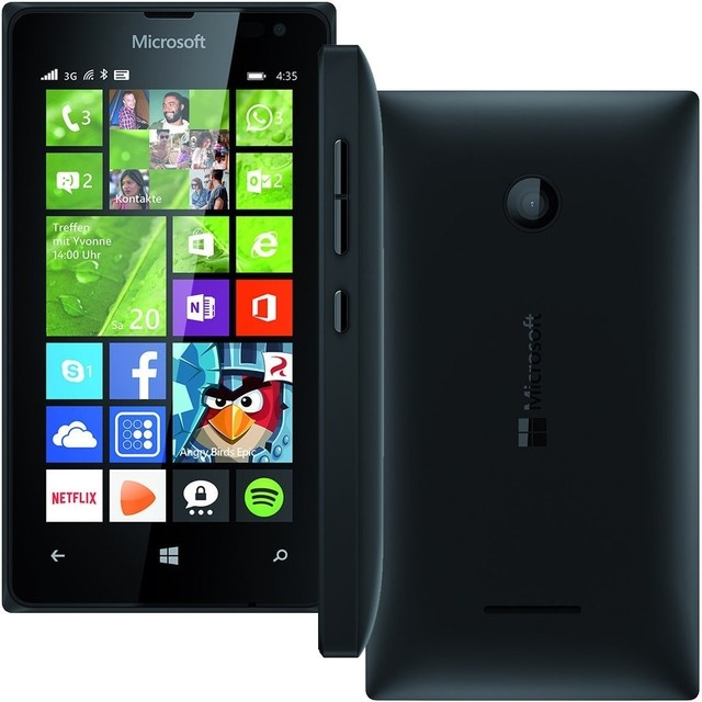 Smartphone Microsoft Lumia 435 Dual Chip Windows Phone 8.1 Tela 4