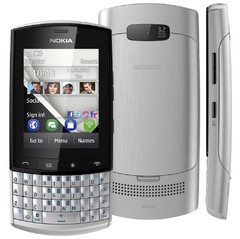 CELULAR NOKIA ASHA 303 PRATA COM QWERTY, CÂMERA 3.2MP, WI-FI, 3G,TOUCH SCREEN, RÁDIO FM, MP3, BLUETOOTH