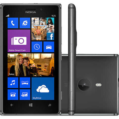 NOKIA LUMIA 925 PRETO 16GB 4G TELA 4.5 WINDOWS PHONE 8MP