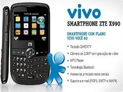 Celular Zte X990 Vivo Cam 2.0mp Bluetooth Radio Fm 850/1900Mhz na internet