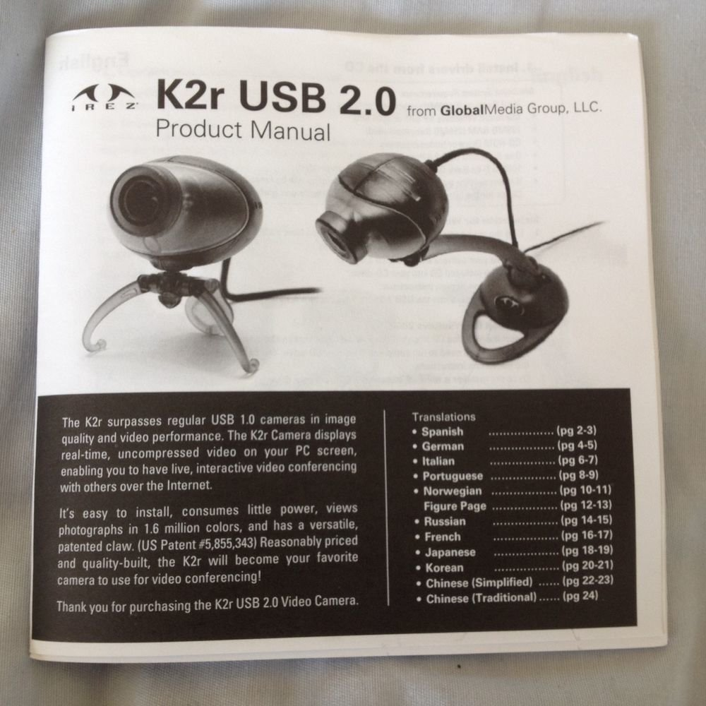 K2R USB CAMERA WINDOWS 10 DRIVER DOWNLOAD