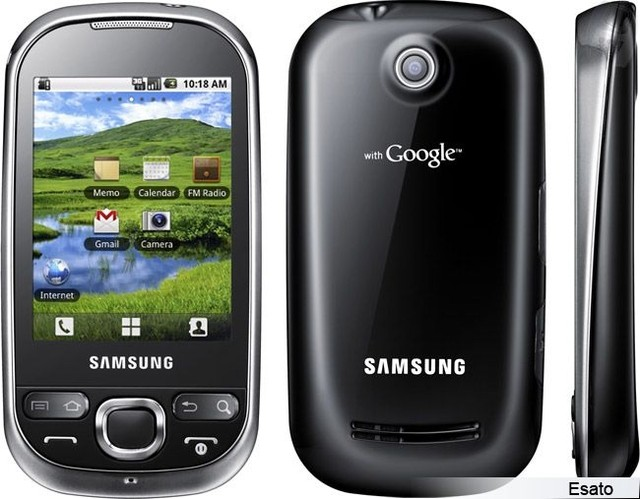 Samsung Galaxy 5 Gt-i5500b CORBY SMART Android 2.3 Câmera 3.2 MP, mp3 player, radio, bluetooth, Touchscreen - loja online
