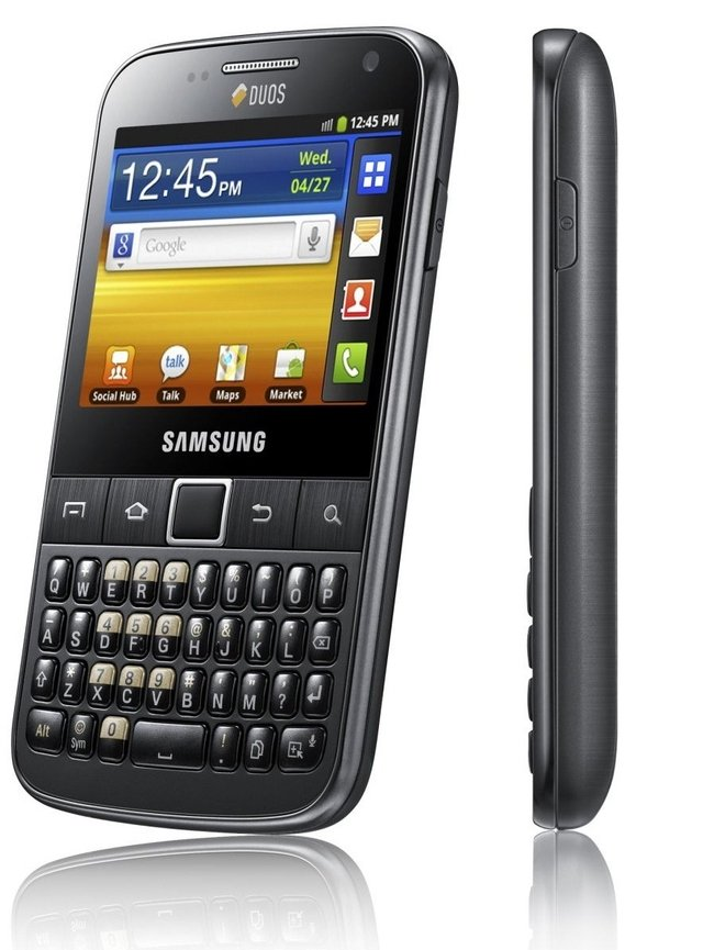 Smartphone Samsung Galaxy Y Pro Duos B5512 / Android 2.3 / 3G / Wi-Fi / 3.2MP / GPS / Qwerty - infotecline