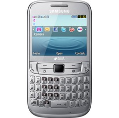 SAMSUNG S3572 CHAT 357 CINZA DUAL CHIP WIFI FM QWERTY - infotecline