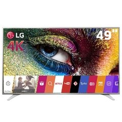 "Smart TV LED 49"" Ultra HD 4K LG 49UH6500 com Sistema WebOS, Wi-Fi, Painel IPS, HDR Pro, Controle Smart Magic, Entradas HDMI e USB"
