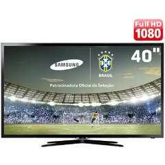 "Smart TV Slim LED 40"" Full HD Samsung 40F5500 com Função Futebol, 120Hz Clear Motion Rate, Wi-Fi e Conversor Digital com Sistema Ginga"