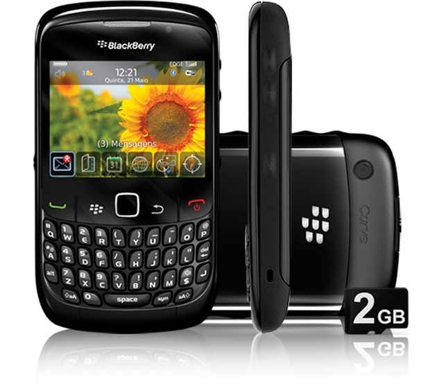 CELULAR BlackBerry Curve 3G 9300 Wi-FI, Foto 2 Mpx, mp3 player, bluetooth, Wi-fi e o GPS, QWERTY