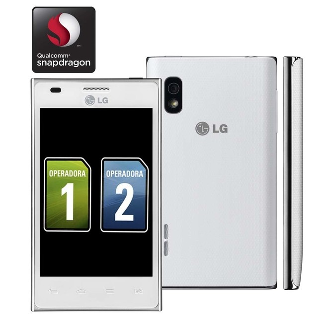 LG OPTIMUS L5 / E615F / BRANCO / DUAL CHIP / ANDROID 4.0 / 3G / WI-FI / GPS / 5MP / 5x / 4
