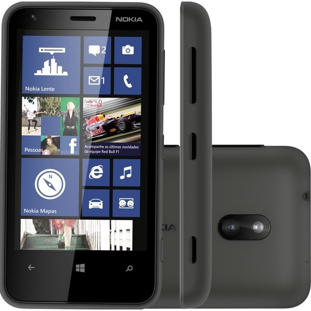 Smartphone Nokia Lumia 620 Preto com Windows Phone 8, Câmera 5MP, Touch Screen, 3G, Wi-Fi