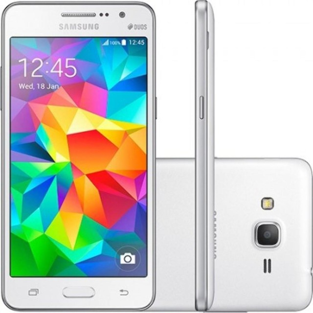 smartphone Samsung Galaxy Gran Prime Duos TV SM-G530h Android 5.1, Video Full HD, multimídia, rádio , TV, e bluetooth, Wi-fi e GPS
