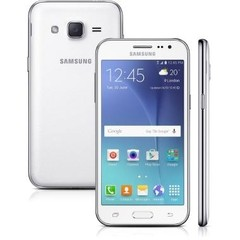 "Smartphone Samsung Galaxy J2 TV SM-J200 8GB Branco 4G Tela 4,7"" Câmera 5MP Android 5.1 na internet"