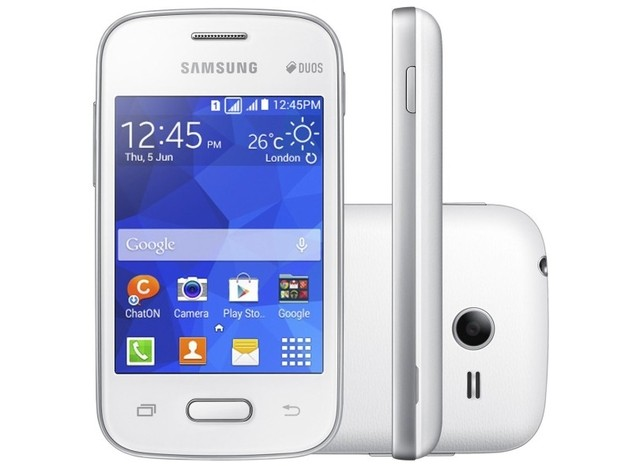 Smartphone Samsung G110 Galaxy Pocket 2 Duos - Desbloqueado / Dual / 4GB / 3MP