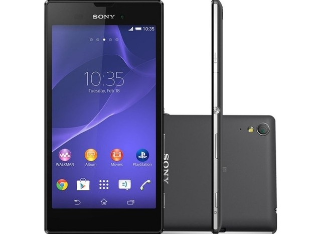 Smartphone Sony Xperia T3 8GB D5103, Quad-Core 1.4 GHZ, Android 4.4.2, Display 5.3 1280x720, Foto 8 Mpx, Memória 8 GB EXP,
