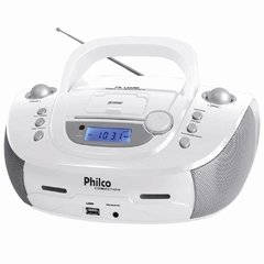 Som Portátil Philco PB126BR com Entrada USB e Dock Connection - Branco
