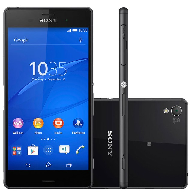 Smartphone Sony Xperia Z3 D6633, Quad Core, Android 4.4, Full HD 5.2´, 16GB, 20.7MP, Dual Chip + Smart Band - Preto