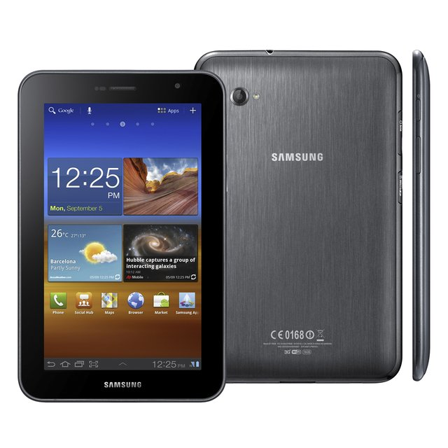 Tablet Samsung Galaxy P6200 com Android 3.2 Wi-Fi e 3G Tela 7'' Touchscreen e Memória Interna 16GB