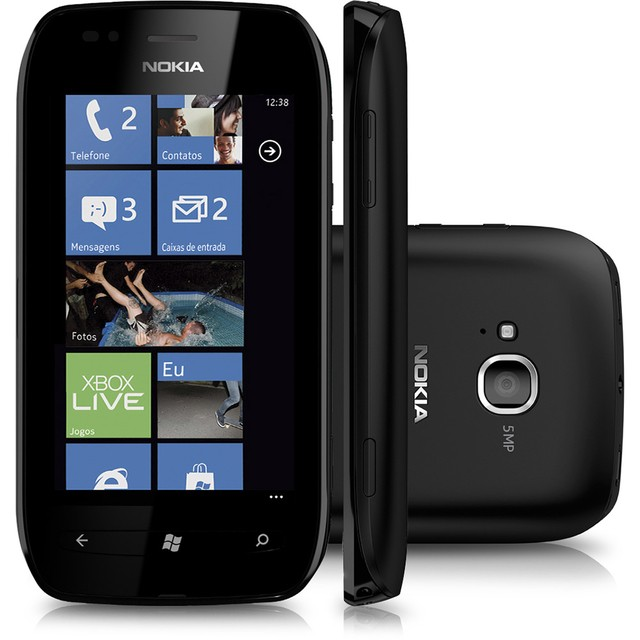 Celular Nokia Lumia 710 Preto com Windows Phone, Câmera 5MP, Touch Screen, 3G, Wi-Fi