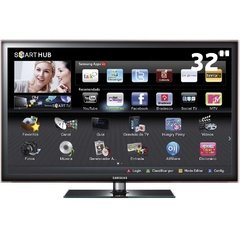 "TV 32"" LED Samsung Série D5500 UN32D5500 Full HD c/ Smart TV, Entradas HDMI e USB e Conversor Digital"