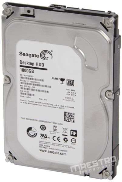 Hd 1tb Sata 6gb/s 7200rpm - 64mb Seagate Barracuda 1000gb - comprar online