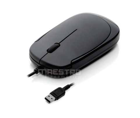 Mouse Coletek  Óptico - USB - Preto - Slim - Plug-Play - MS3217-2