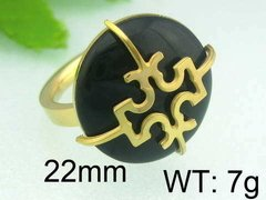 ANILLO TORY BURCH NEGRO GOLD COD. 407 - comprar online