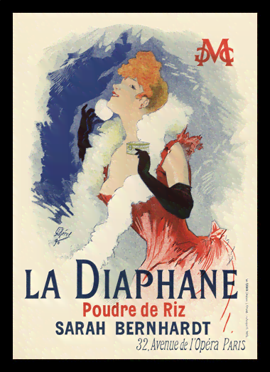 Quadro Poster The Belle Epoque La Diaphane