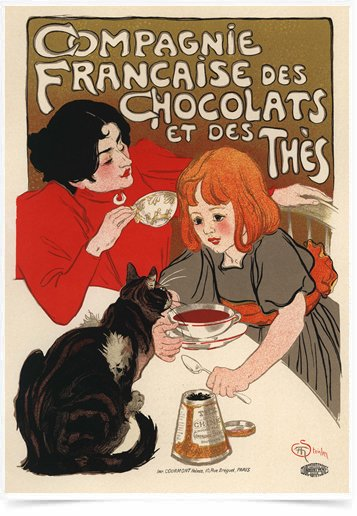Poster The Belle Epoque Chocolats Thes