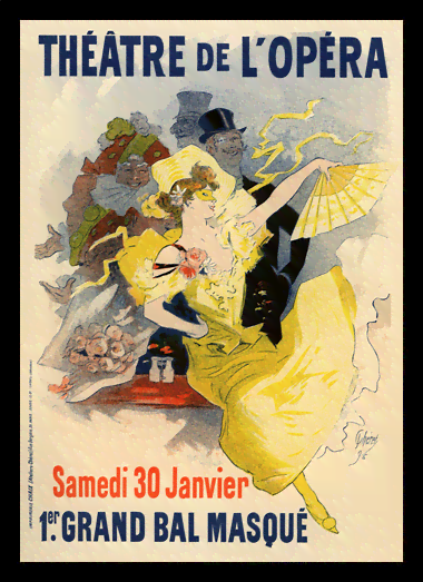 Quadro Poster The Belle Epoque Theatre de L Opera