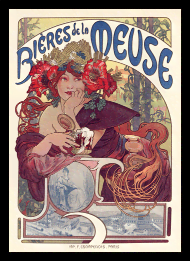 Quadro Poster The Belle Epoque Bieres Meuse