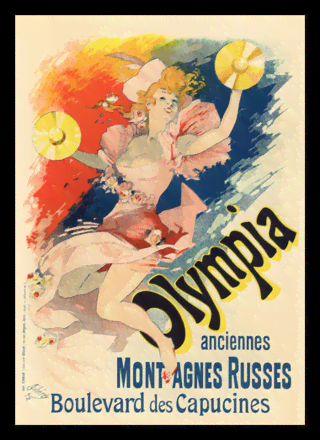 Quadro Poster The Belle Epoque Olympia