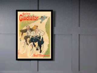 Quadro Poster The Belle Epoque Cycles Gladiator na internet