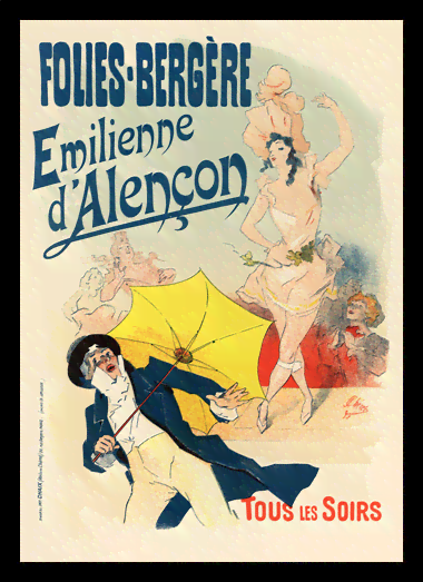 Quadro Poster The Belle Epoque Folies Bergere