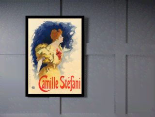 Quadro Poster The Belle Epoque Camille Stefani na internet