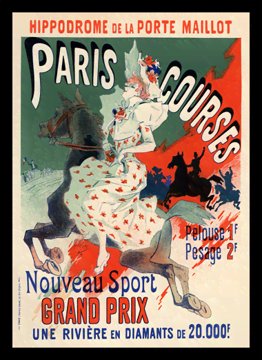 Quadro Poster The Belle Epoque Paris Courses