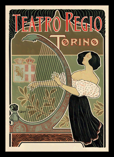 Quadro Poster The Belle Epoque Teatro Regio